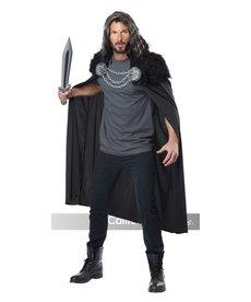 California Costumes Adult Wolf Clan Warrior Black Cape