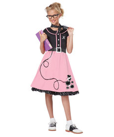California Costumes Kids 50's Sweetheart Pink Costume