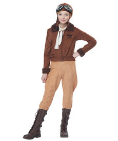 California Costumes Kids Amelia Earhart / Aviator Costume