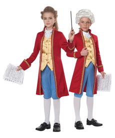 California Costumes Kids Classical Composer / Amadeus Costume