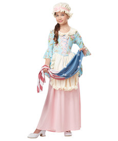 California Costumes Kids Colonial Lady Costume