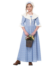 California Costumes Kids Colonial Village Girl Costume