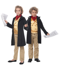 California Costumes Kids Famous Composer/Beethoven Costume