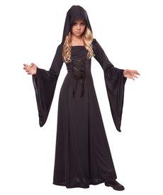 California Costumes Kids Hooded Black Robe Costume