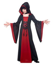 California Costumes Kids Hooded Red/Black Robe Costume