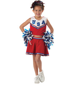 California Costumes Kids Patriotic Cheerleader Costume