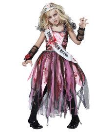 California Costumes Kids Zombie Prom Queen Costume