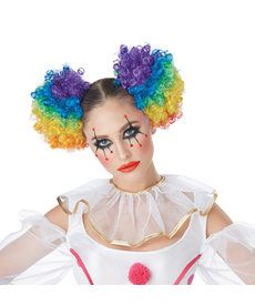 California Costumes Clown Puffs Wig: Rainbow