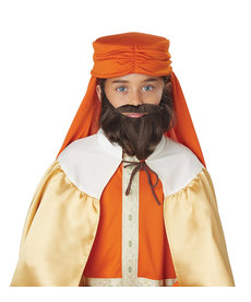 California Costumes Wise Man Beard & Moustache: Child Size - Brown