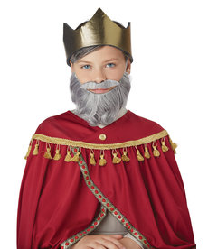 California Costumes Wise Man Beard & Moustache: Child Size - Gray