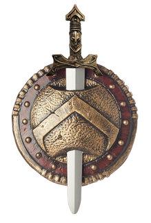 "California Costumes 12"" Spartan Combat Shield & Sword"