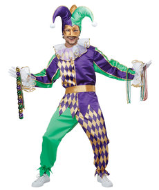 California Costumes Mardi Gras Jester: Adult Costume