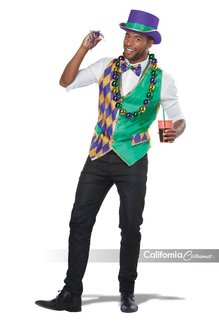 California Costumes Mardi Gras Vest Kit: Men's