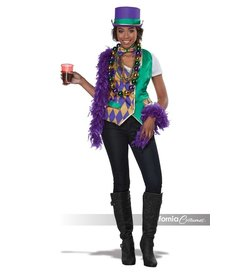 California Costumes Mardi Gras Vest Kit: Women's