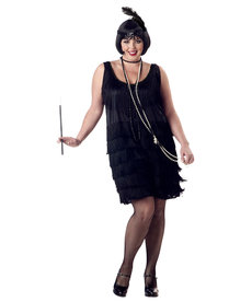 California Costumes Plus Size Fashion Flapper Costume