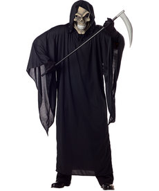 California Costumes Men's Plus Size Grim Reaper Costume