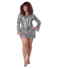 California Costumes Women's Plus Size Disco Diva Costume