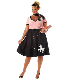 California Costumes Women's Plus Size 50's Sweetheart Costume