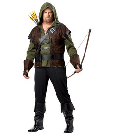 California Costumes Men's Plus Size Robin Hood Costume