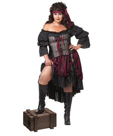 California Costumes Women's Plus Size Pirate Wench Costume