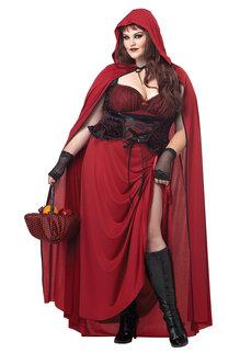 California Costumes Women's Plus Size Dark Red Riding Hood Costume
