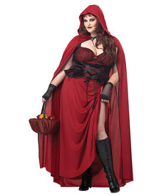 California Costumes Women's Plus Size Dark Red Riding Hood Costume