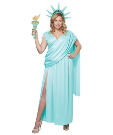 California Costumes Women's Plus Size Lady Liberty Costume
