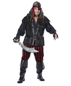 California Costumes Men's Plus Size Ruthless Rogue Costume