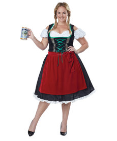 California Costumes Women's Plus Size Oktoberfest Fraulein Costume