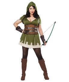 California Costumes Women's Plus Size Lady Robin Hood Costume