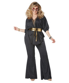 California Costumes Women's Plus Size Disco Dazzler Costume