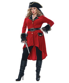 California Costumes Plus Size High Seas Heroine Costume
