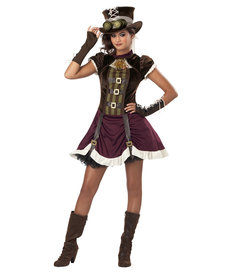 California Costumes Teen Steampunk Girl Costume