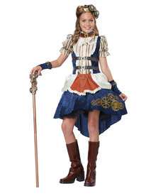 California Costumes Teen Steampunk Fashion Girl Costume