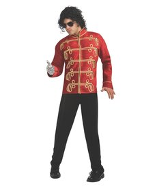 Rubies Costumes Men's Deluxe Michael Jackson Red Military Jacket
