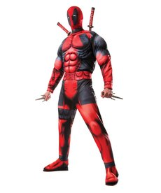 Rubies Costumes Men's Deluxe Deadpool Muscle Chested Costume