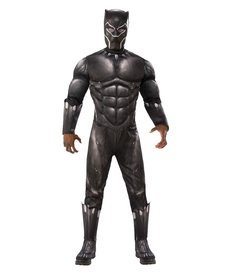 Rubies Costumes Men's Deluxe Black Panther Costume with Muscle Chest