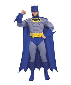 Rubies Costumes Men's Deluxe Batman Costume (The Brave and the Bold)