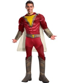 Rubies Costumes Men's Deluxe Shazam Costume with Muscle Chest