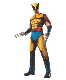 Rubies Costumes Men's Deluxe Wolverine Costume with Muscle Chest