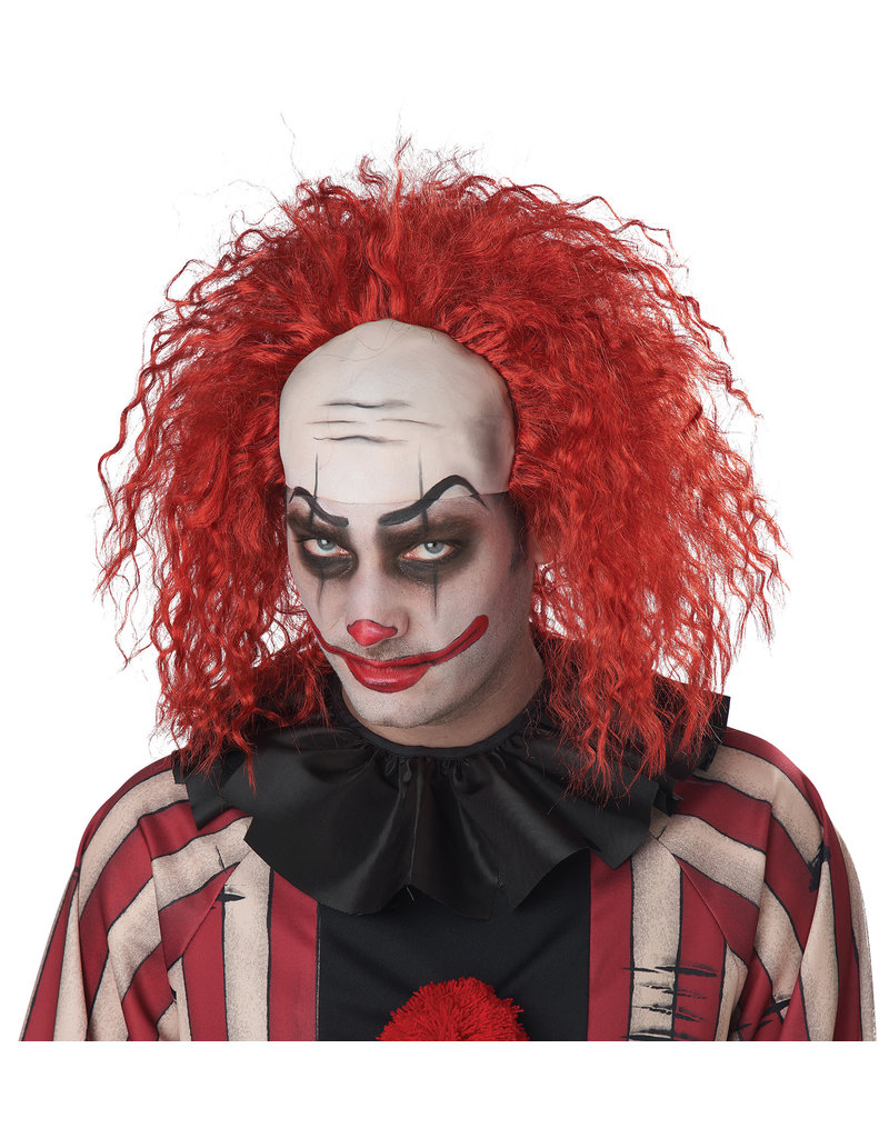 California Costumes Adult Clown Pattern Baldness Men's Wig