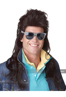 California Costumes Men's 1980's Rock Mullet Wig