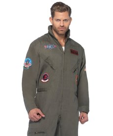 Leg Avenue Men's Plus Size Top Gun Flight Suit Costume