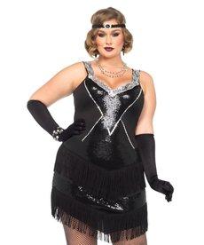 Leg Avenue Plus Size Glamour Flapper Dress Costume