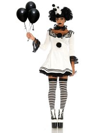Leg Avenue Pierrot Clown: Adult Costume
