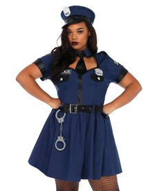 Leg Avenue Women's Plus Size Flirty Cop Costume