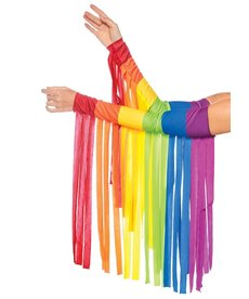Leg Avenue Rainbow Fringe Arm Warmer