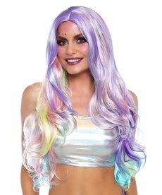 Leg Avenue Women's Pastel Rainbow Long Wavy Wig
