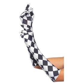 Leg Avenue Harlequin Elbow Length Gloves