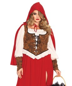Leg Avenue Women's Plus Size Woodland Red Riding Hood Costume